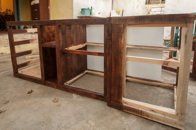 Cabinet for the left side of the kitchen