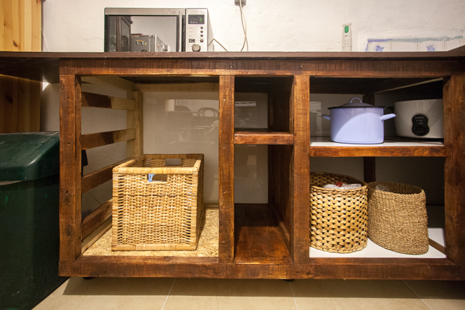 Real drawers will work better than a wicker basket.