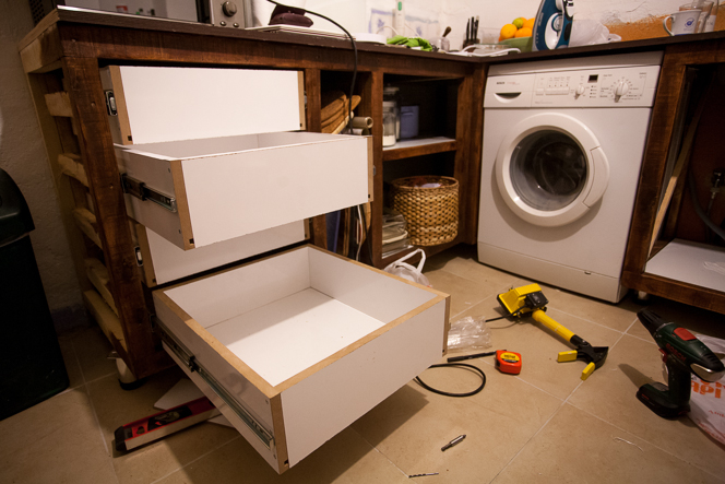Drawers! Actual working drawers!