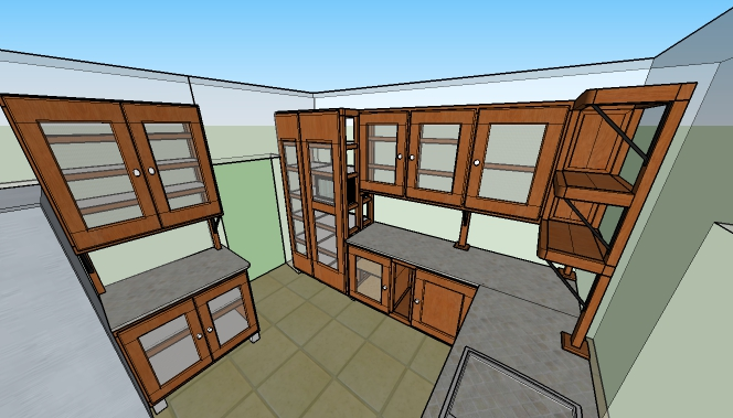 From Sketchup plan...