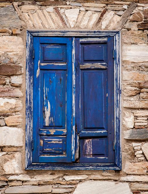 Blue shutters.