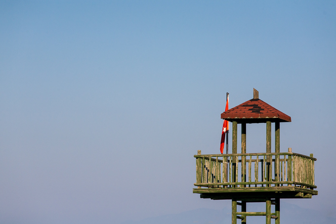 Lifeguard's tower at the beach.